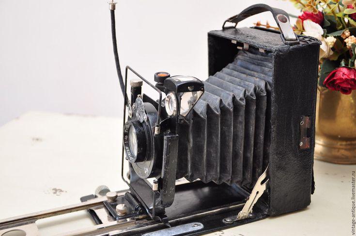 Купить Старинный фотоаппарат Фотокор-1, винтажный фотоаппарат для коллекции - черный, фотоаппарат, фотокамера