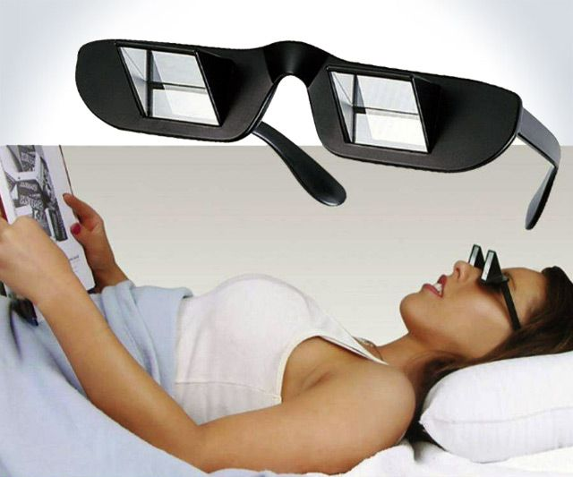 Prism Glasses for Reading in Bed | DudeIWantThat.com