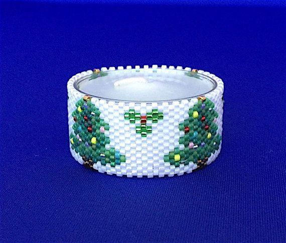 Christmas Tree Napkin Pattern: Christmas Tree Tea Light Cover/Napkin Ring Bead Pattern