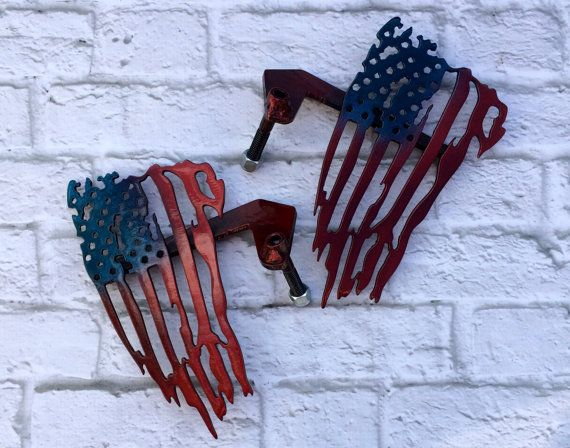 Patriotic American flag custom Jeep foot pegs by JeepJunk on Etsy