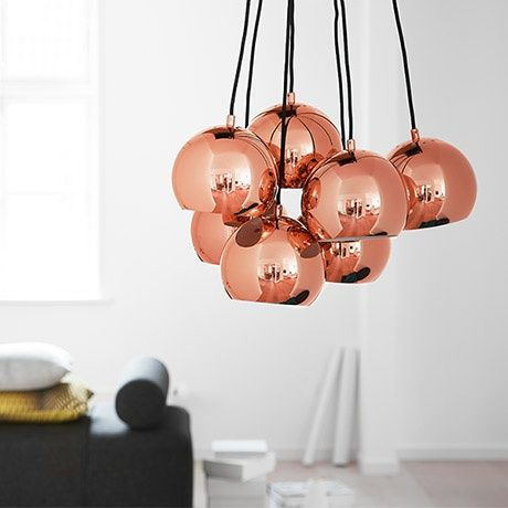 ball multi pendant by frandsen lighting monoqi bestofdesign lighting pinterest copper. Black Bedroom Furniture Sets. Home Design Ideas
