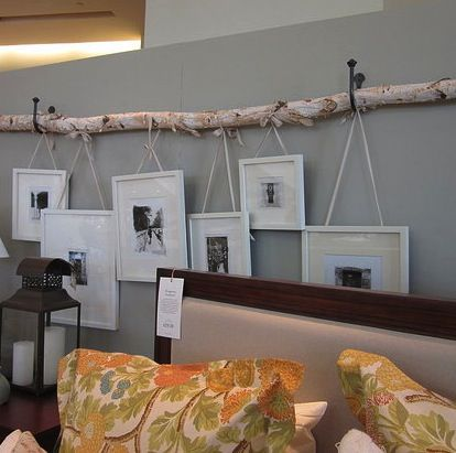 Clever idea: love the idea of bringing raw materials in the home. A Branch of Birch and Frames  - www.casasugar.com