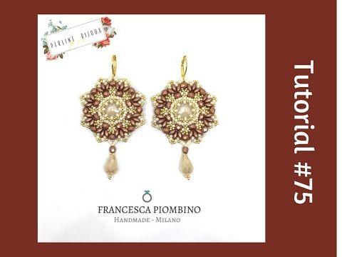 TUTORIAL PERLINE [75] - Orecchini Firenze, collaborazione con Perline pe...