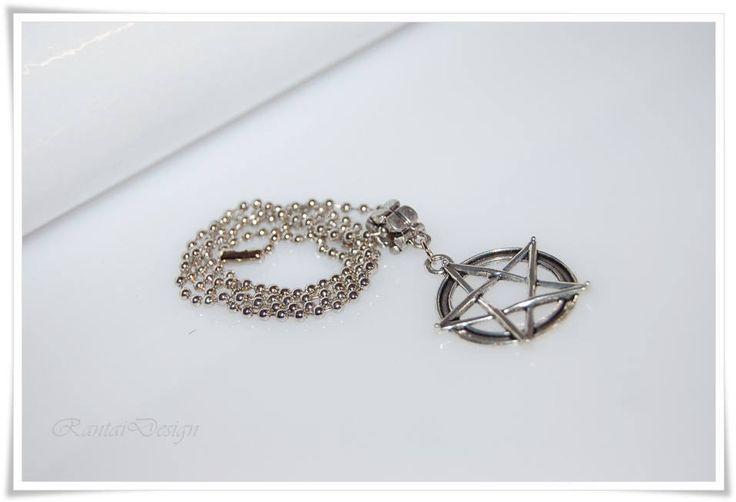 Herrenschmuck Halskette Pentagramm  Edelstahlkette Für den Herren Drudenfuß Hexenkreuz Necklace for men  Pentagramm von rantaiDesign auf Etsy