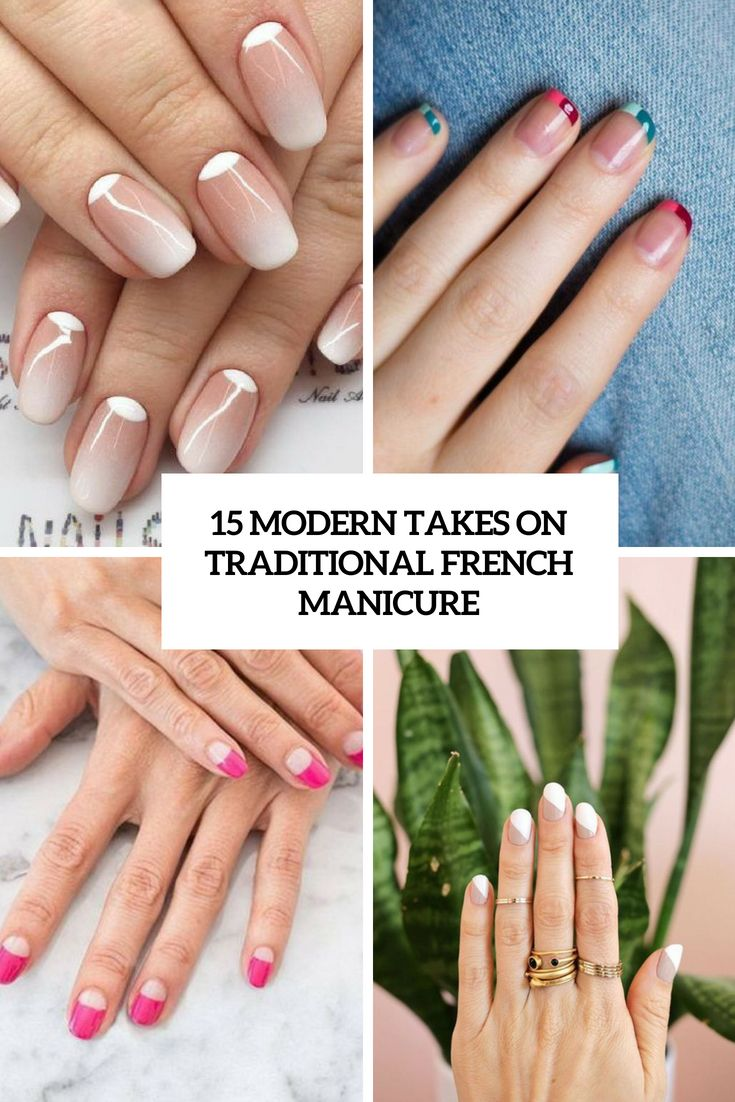 Modern Takes On Traditional French Manicure Cover With Images