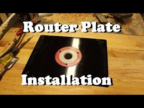 How To Install Router Plate In Table - YouTube