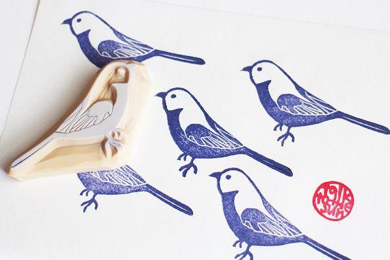 sello de Perico. sello de goma talladas a mano de por talktothesun