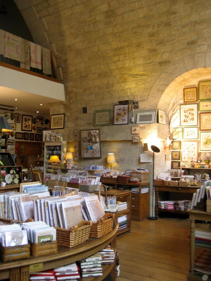 Charming setting for a craft store in Paris. Via Paris Rendez-vous.