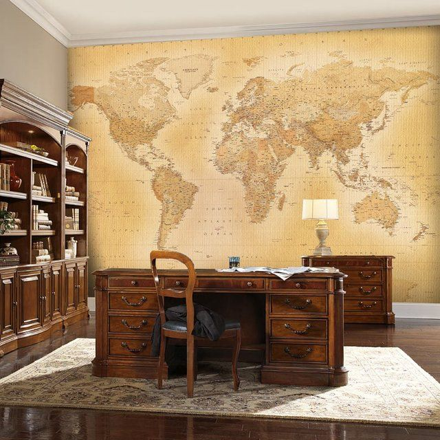 1000 ideas about world map bedroom on pinterest map for Antique world map wall mural