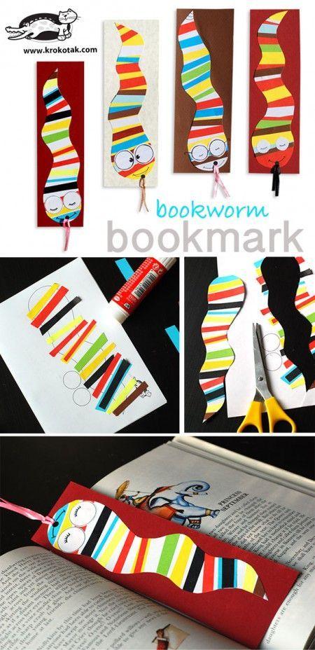 Bookworm Bookmark