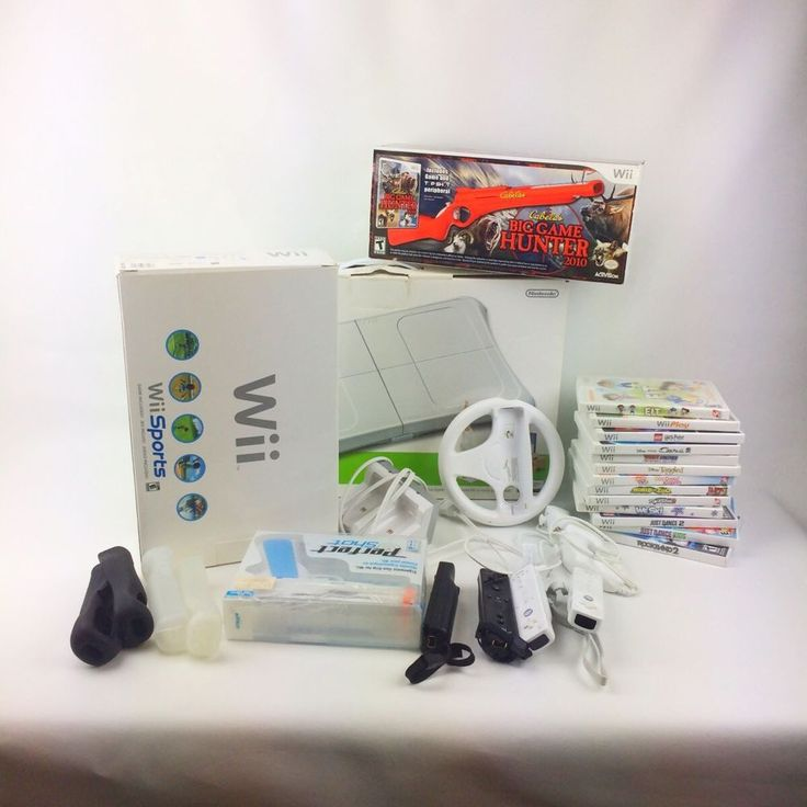 Huge NINTENDO WII Sport Console Lot Games Controllers Guns Fit Board Bundle  | eBay