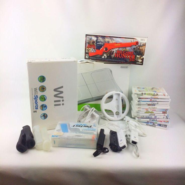 Huge NINTENDO WII Sport Console Lot Games Controllers Guns Fit Board Bundle  | eBay