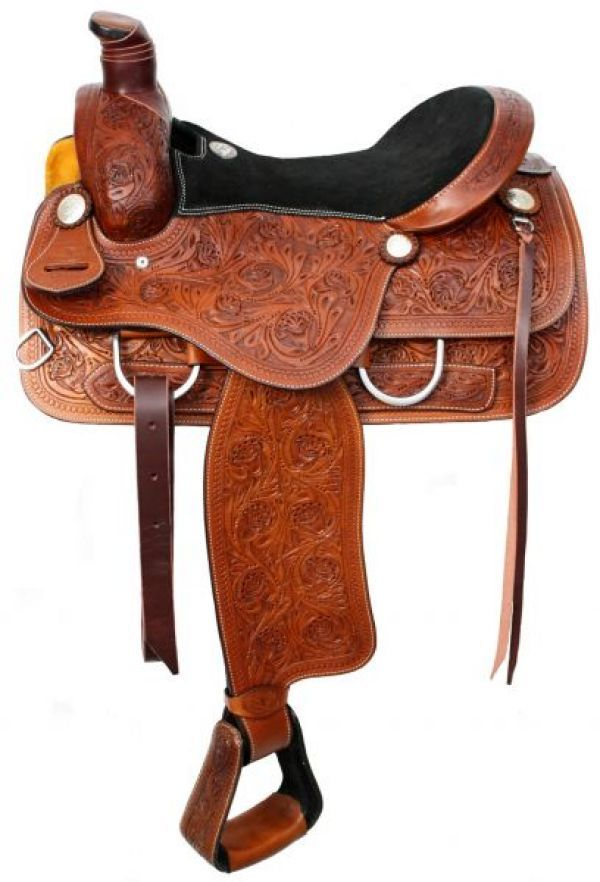 Very nice tooled roping saddle.
