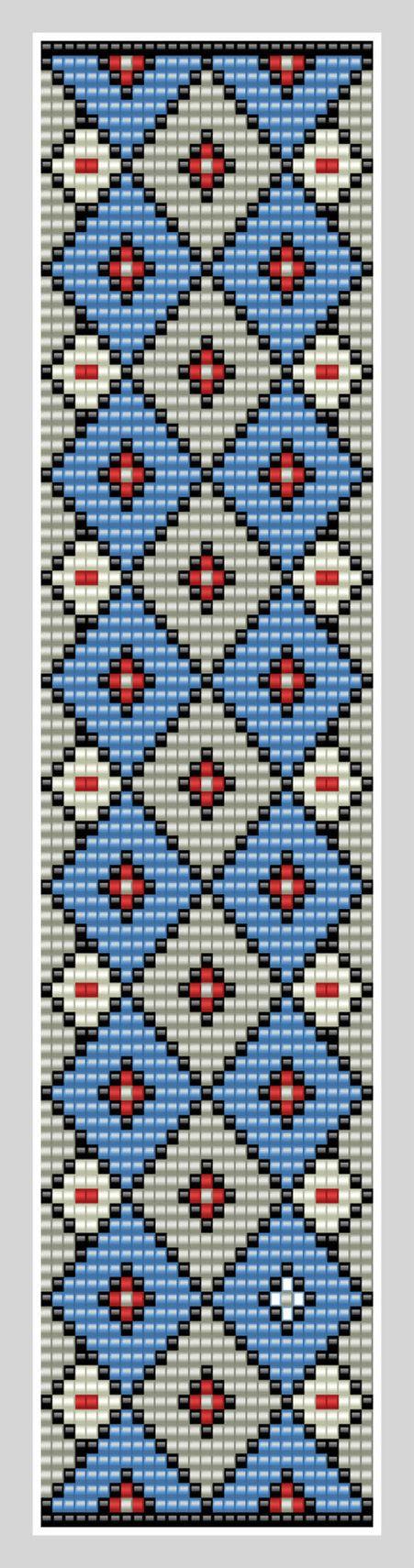 Bead loom Cuff Pattern PDF Pattern Geometric