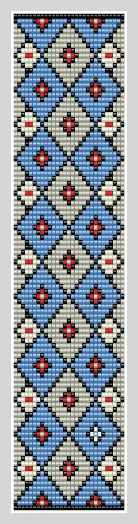 Bead loom Cuff Pattern PDF Pattern Geometric by BeadscapesbyEs