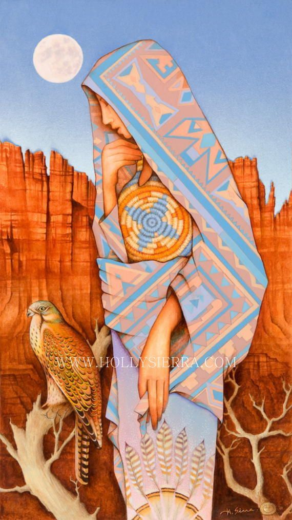 The Guardian  Goddess Of The Ancient Canyon by HollySierraArt, $35.00