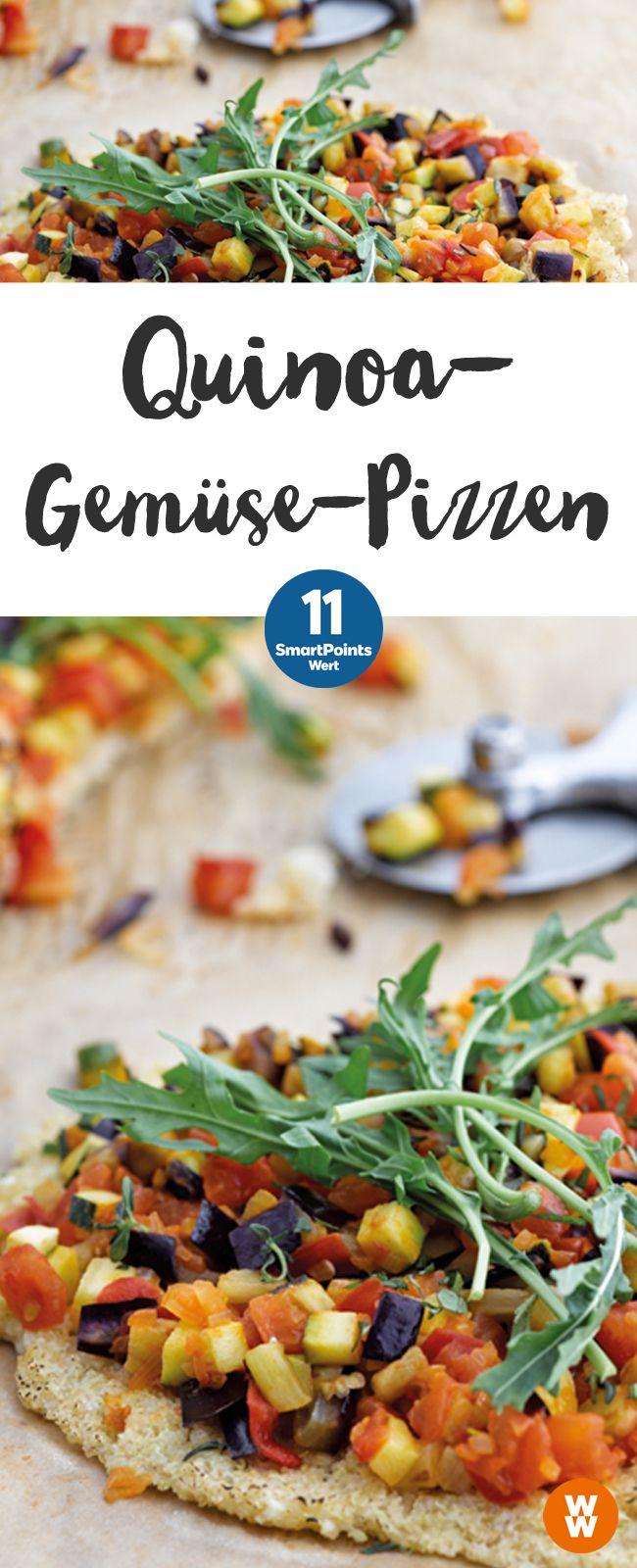 Vegetarische Quinoa-Gemüse Pizzen, 11 SmartPoints, lecker & einfach zubereitet   Weight Watchers