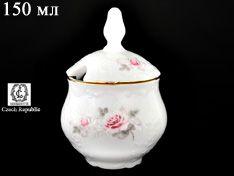 Горчичница 150 мл Бернадотт Серая роза золото
