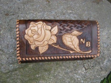 výrobky z kůže,zdobené tepáním - leathercraft | Peněženky / Wallets