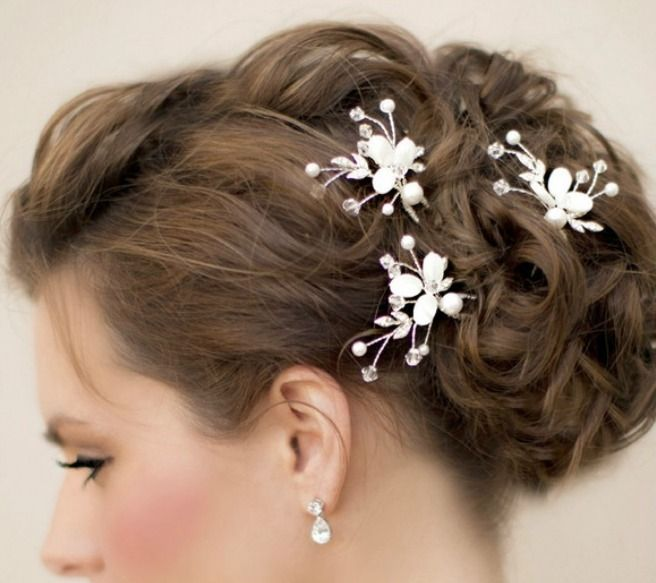 Multiple Hair Pins Bridal Pearl Accessory