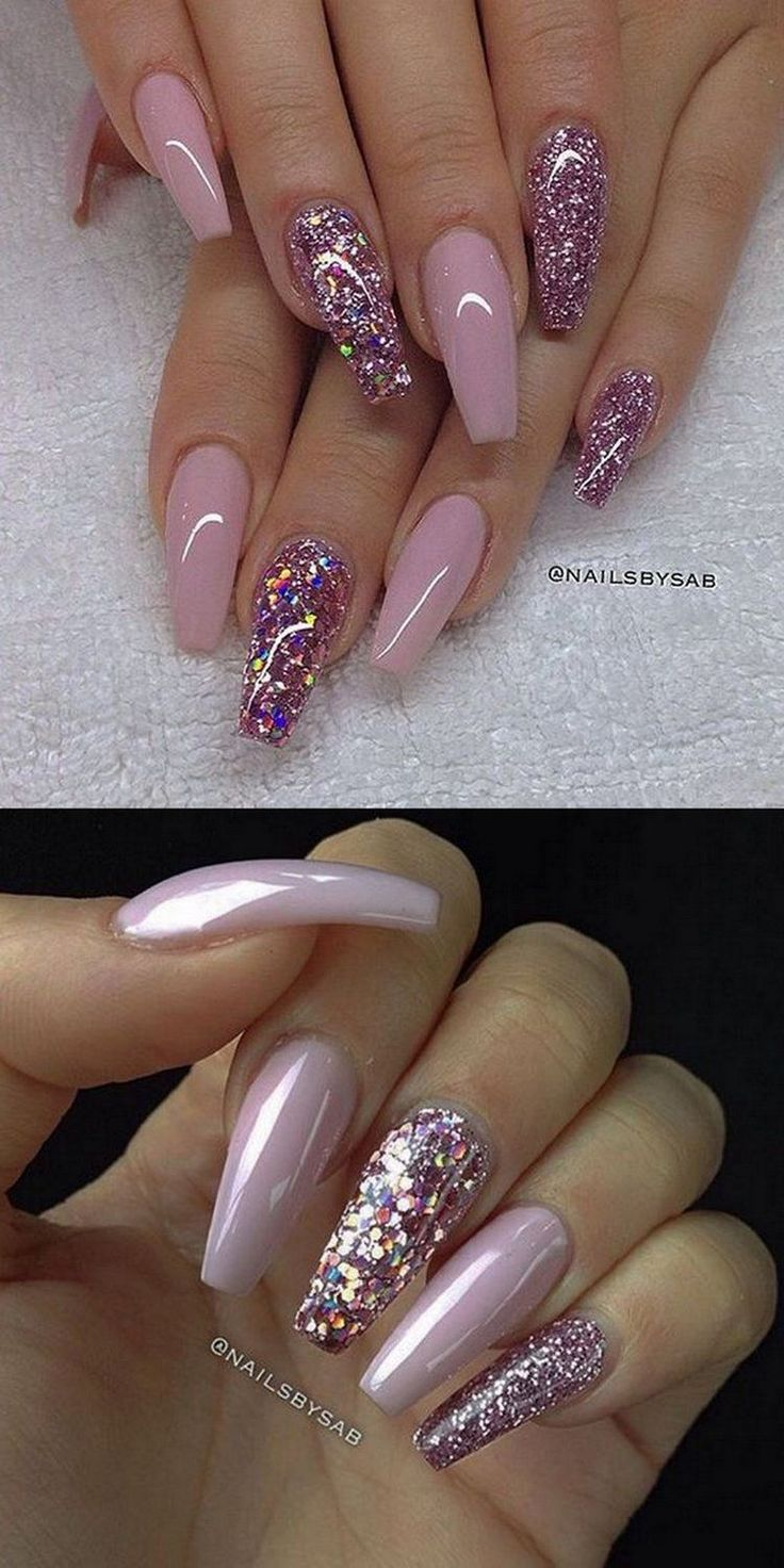 25 trending Pink nails ideas on Pinterest  Pink glitter nails Pink nail designs and Light