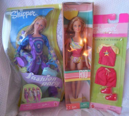 2-Skipper-Dolls-Fashion-Party-amp-Rio-De-Janiero-amp-Teen-Scene-Clothes-Barbie-Doll