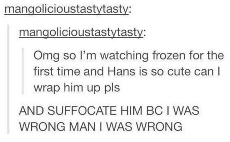 Watching Frozen for the first time