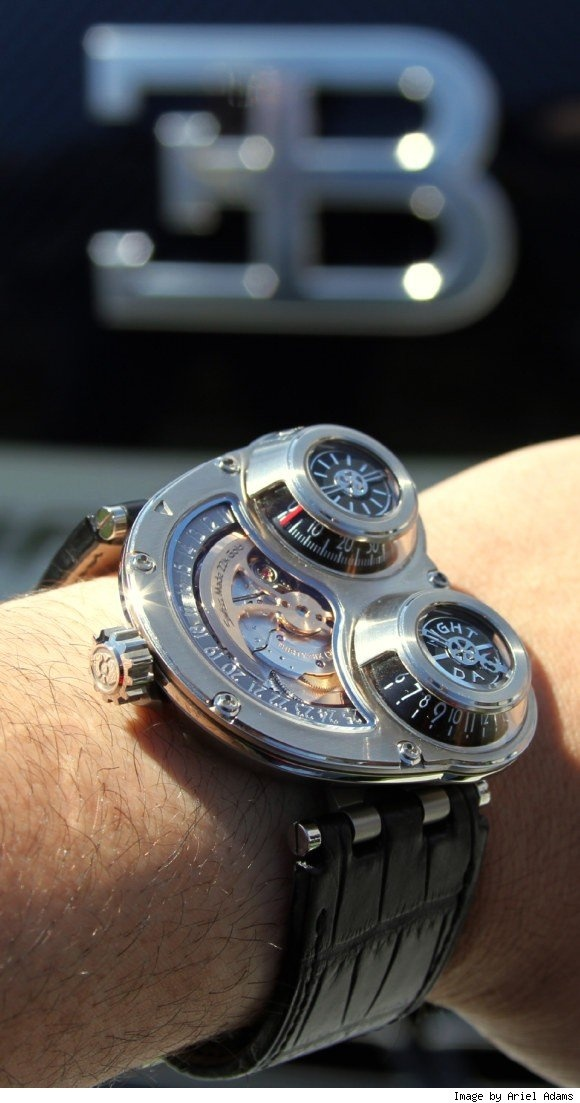 The MB&F HM3.   The Horological Machine No. 3.  I normally don't follow brands that I have no hope of owning, but MB&F engineers some very special watches.  This one is $90,000.