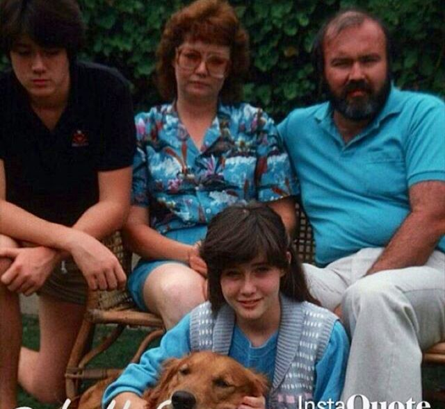 Young Shannen with her parents Rosa & Tom, and brother Tom Jr.