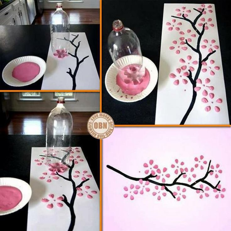 """One recycled plastic bottle, some paint and some paper or canvas and the creativity begins! We have lots more kid-friendly ideas on our """"Ideas for Kids"""" album at http://theownerbuildernetwork.co/ideas-for-kids/ Will this be your weekend project?"""