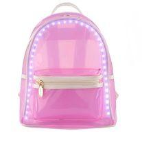 USD45.00-LED light up backpack (pink/brown/white/green)  #led #bag #backpack #cool #lightup #light #up #shoulderbag #purse #handbag