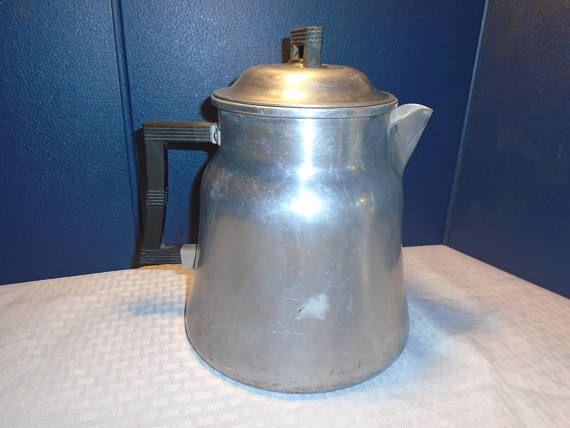 Vintage coffee percolator. Stovetop coffee percolator.  Coffee