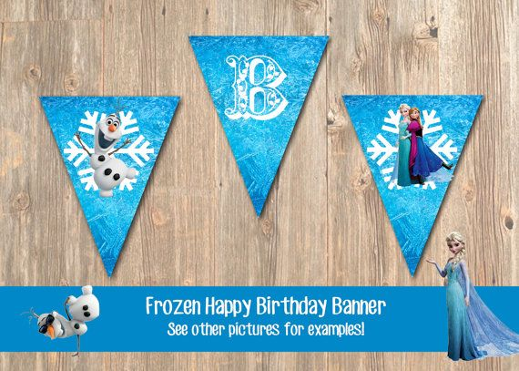Hey, I found this really awesome Etsy listing at https://www.etsy.com/listing/183587355/disneys-frozen-birthday-banner-diy