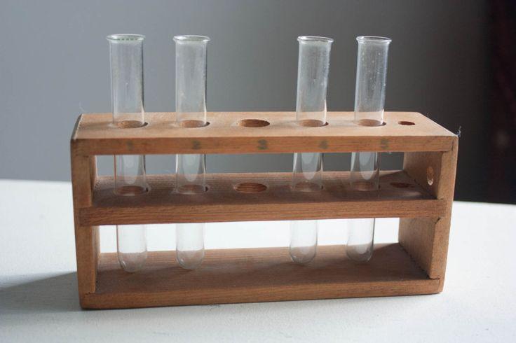 Vintage Test Tube Holder / Wood Test Tube Holder / Vintage Science Equipment / Science Teacher Gift / Test Tube / Test Tube Rack by HeistVintage on Etsy https://www.etsy.com/uk/listing/490234448/vintage-test-tube-holder-wood-test-tube