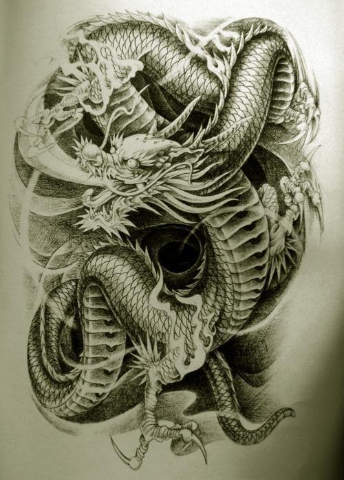 Free Dragon Tattoo Designs | Oriental Dragon Tattoo Designs Style 22 - Free Download Tattoo #17020 ...