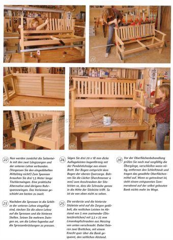 #1904 Outdoor Wood Bench Plans - Outdoor Furniture Plans
