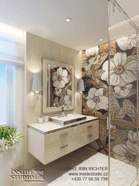 Дизайн интерьера ванной комнаты. Архитектор Ирина Рихтер. INSIDE-STUDIO Prague