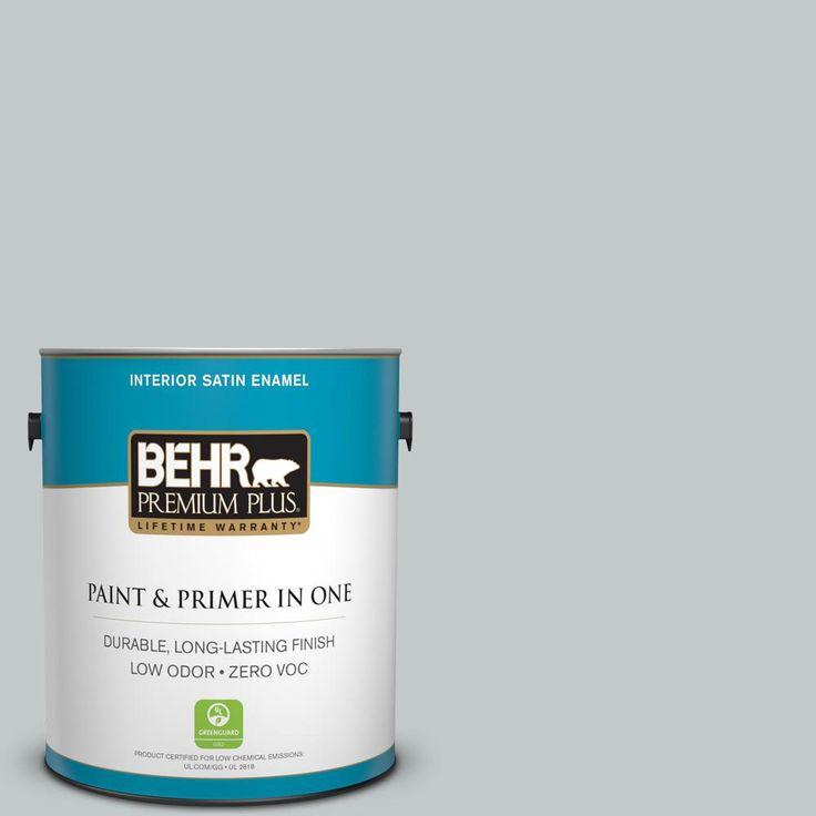 BEHR Premium Plus 1-gal. #N450-2 Zero Gravity Satin Enamel Interior Paint