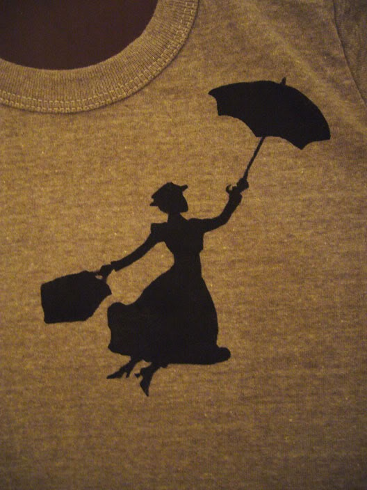 Marry Poppins T-shirt - IMAGE REPRODUCTION TECHNIQUES