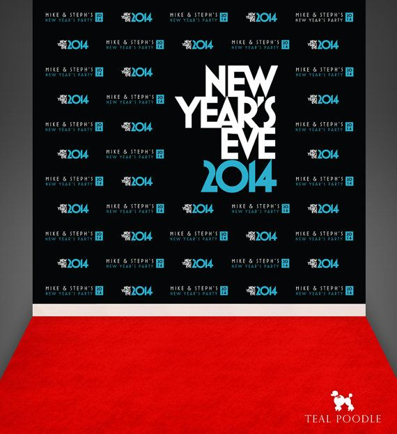 New Years Eve Party Custom Red Carpet Event Backdrops For Your Event - Step And Repeat Backdrop
