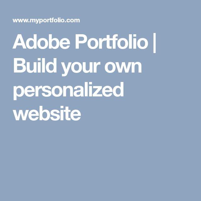 Adobe Portfolio | Build your own personalized website