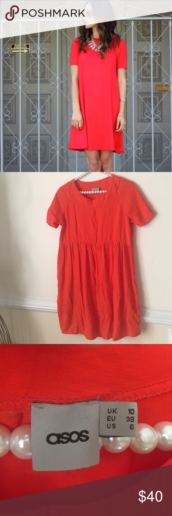 ASOS Red Swing Dress NO flaws on this at all. Very comfy and soft! NO TRADES PLEASE ASOS Dresses Midi
