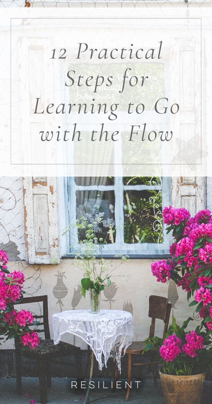 No matter how much structure we create in our lives, no matter how many good habits we build, there will always be things that we cannot control — and if we let them, these things can be a huge source of anger, frustration and stress. The simple solution: learn to go with the flow. Here are 12 practical steps for learning to go with the flow.
