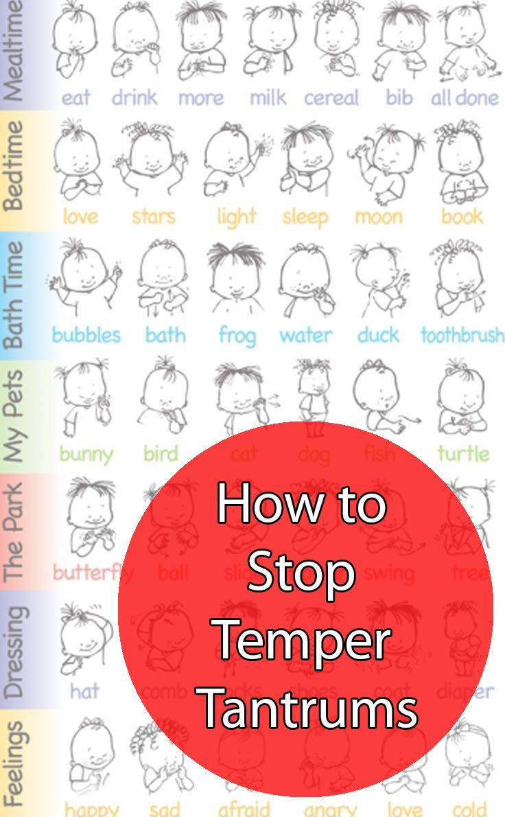 How I Put a Stop to Temper Tantrums with Baby Sign Language