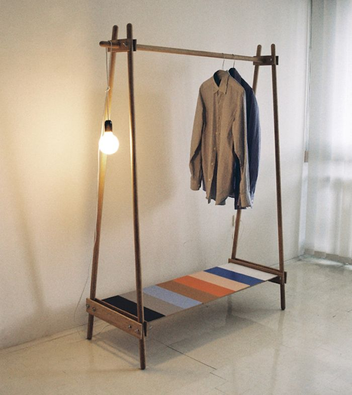best 20 wooden clothes rack ideas on pinterest. Black Bedroom Furniture Sets. Home Design Ideas