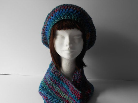 Hat and Scarf Set. Crochet Hat and Cowl. by AluraCrafts on Etsy