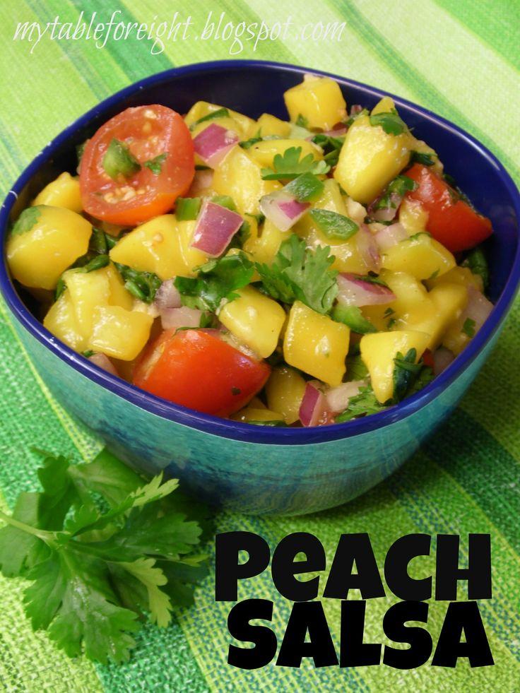 Peach Salsa on MyRecipeMagic.com #salsa #peach #dip