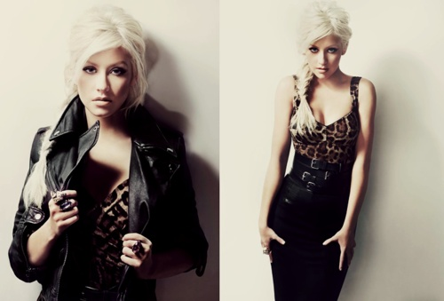 Christina Aguilera pulling off a sexy bad ass look <3