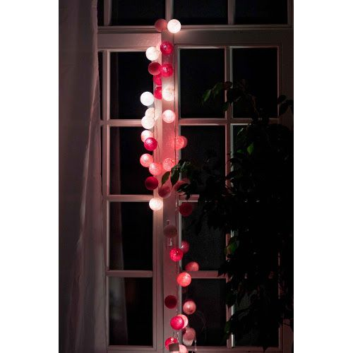 Cotton Ball Lights - Sweet pink 20 kul - sprawdź na myhome.pl