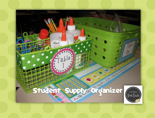Classroom Decor And Supplies ~ Desk supplies storage education resources pinterest